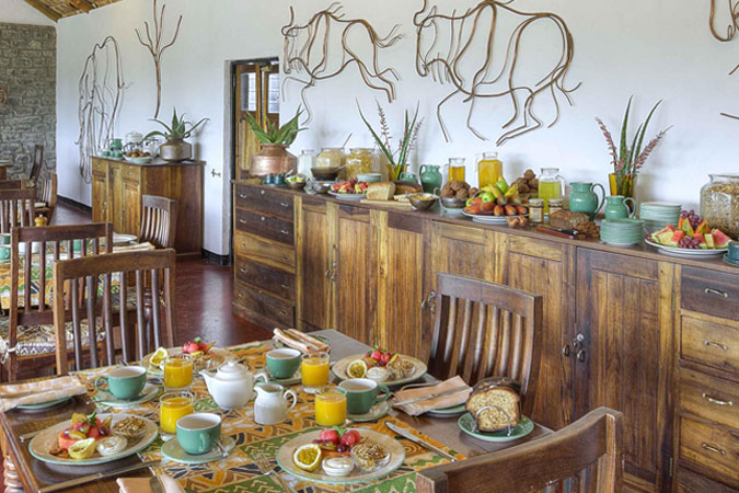 Dining Room at Ndutu Safari Lodge